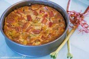 Rharbarberkuchen gebacken