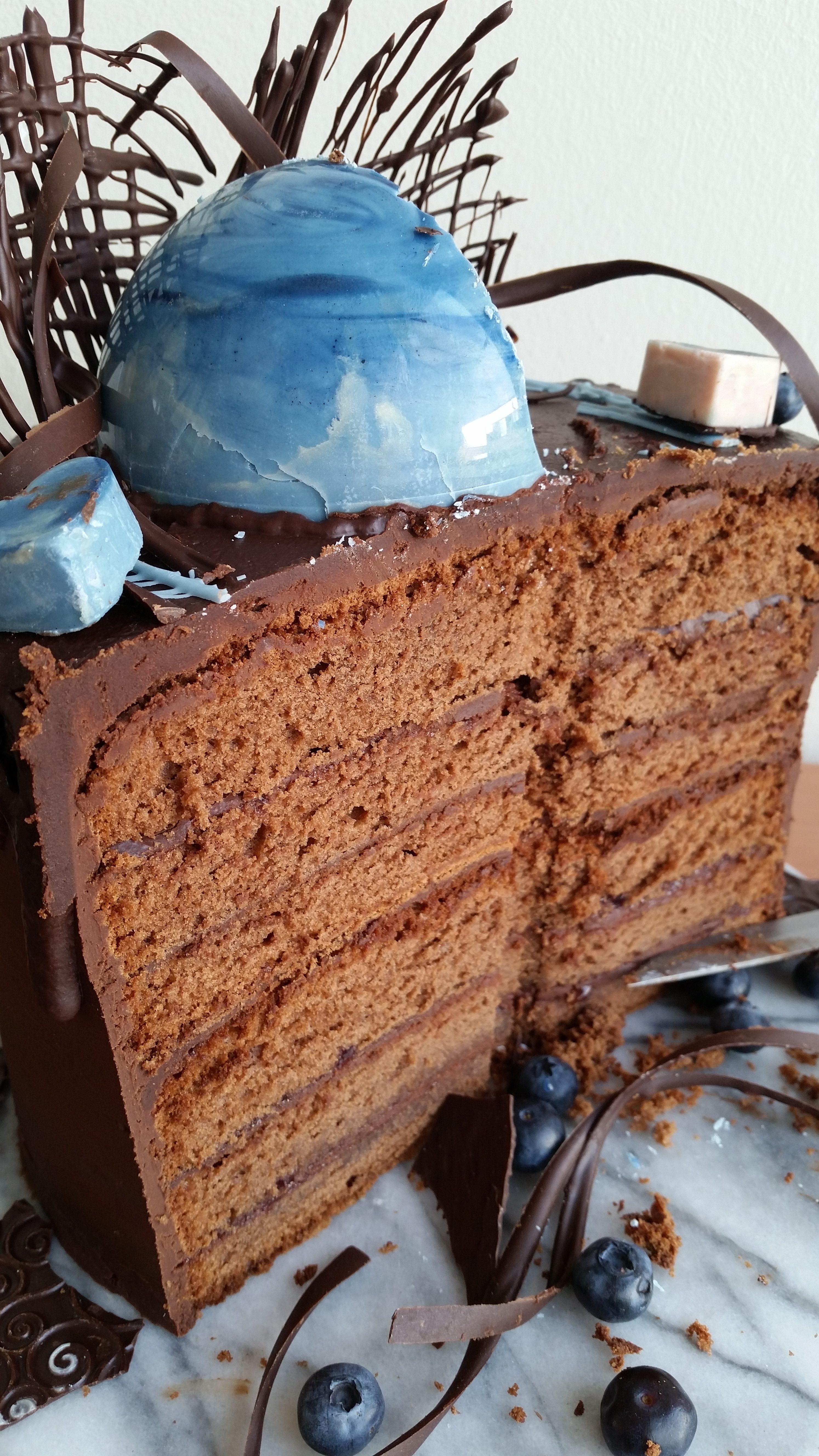 Kuchen mit Ganache