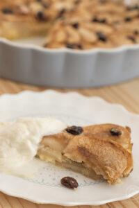 Apfel Pfannkuchen Tarte hochkant