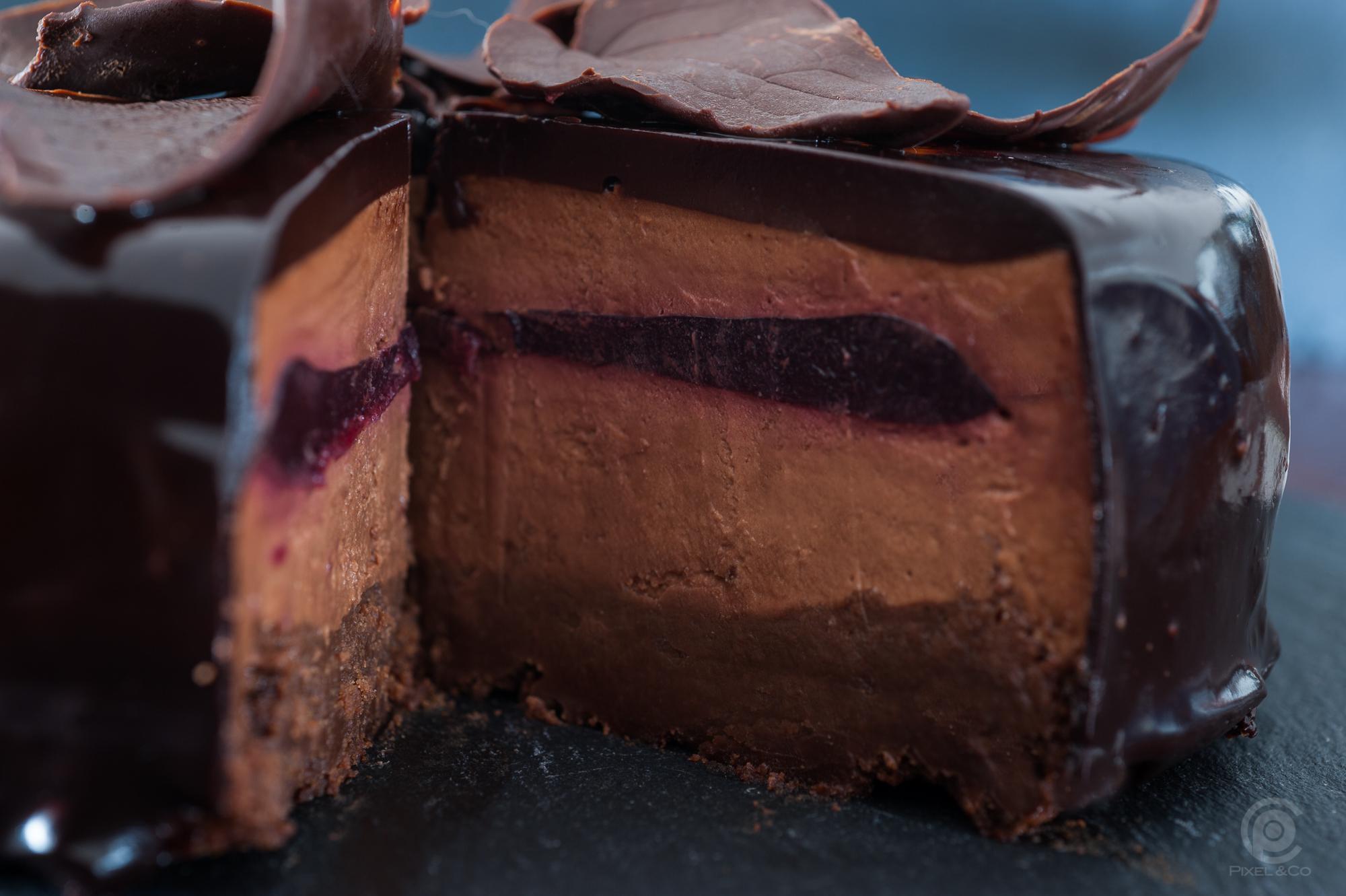 Schokoladentorte mit Mirror Glaze