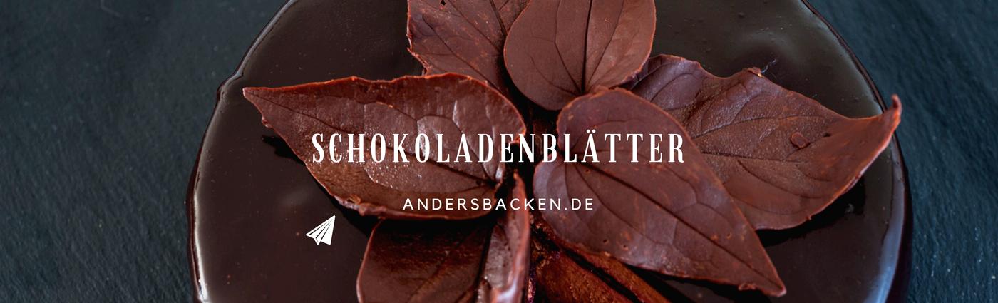 Schokoladenblätter Dekoration
