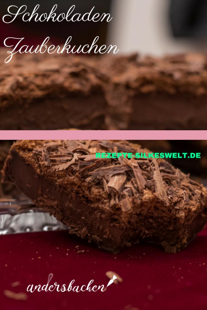 glutenfreier Zauberkuchen mit Schokolade
