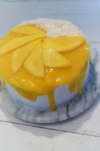 UBE-Torte mit Kokos