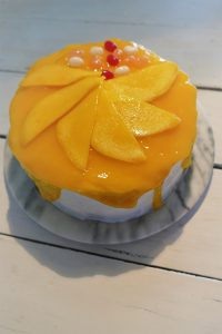 Die UBE-Torte mit Bonbons