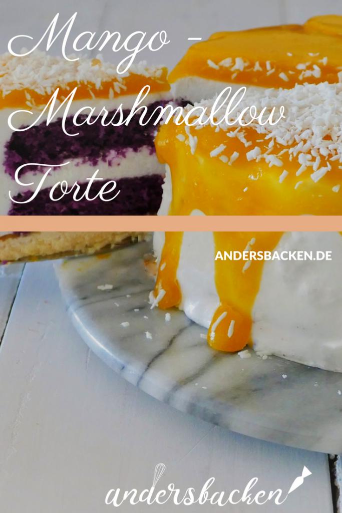glutenfreie Mango Marshmallow Torte