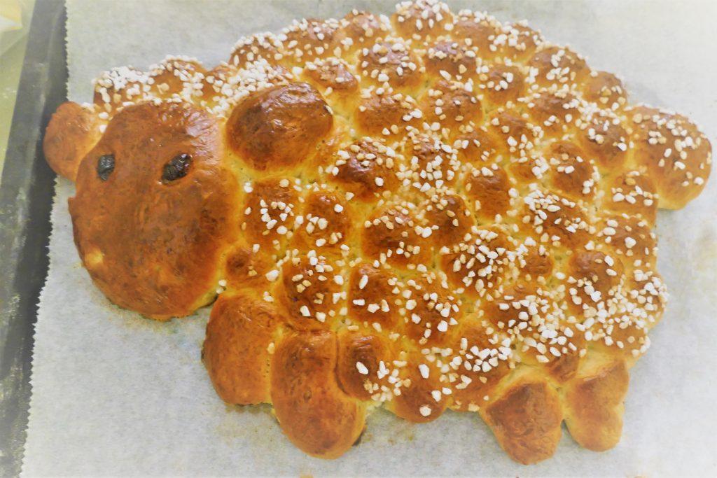 Hefeschaaf gebacken
