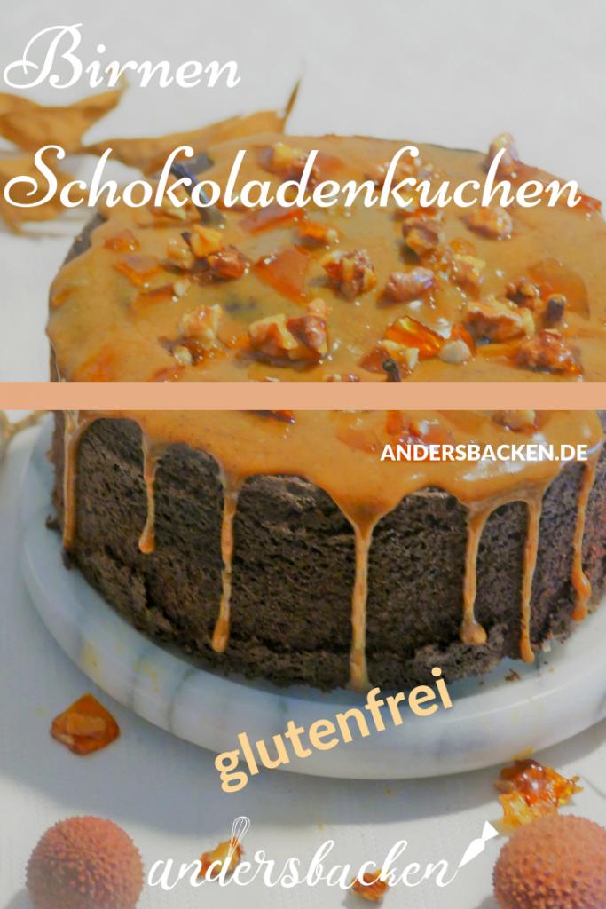 Schokoladenkuchen mit Birnen glutenfrei