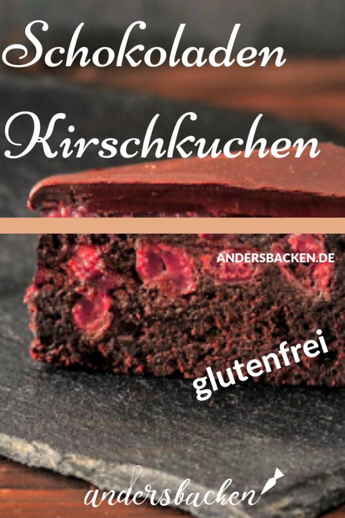 glutenfreier Schokoladen Kirschkuchen