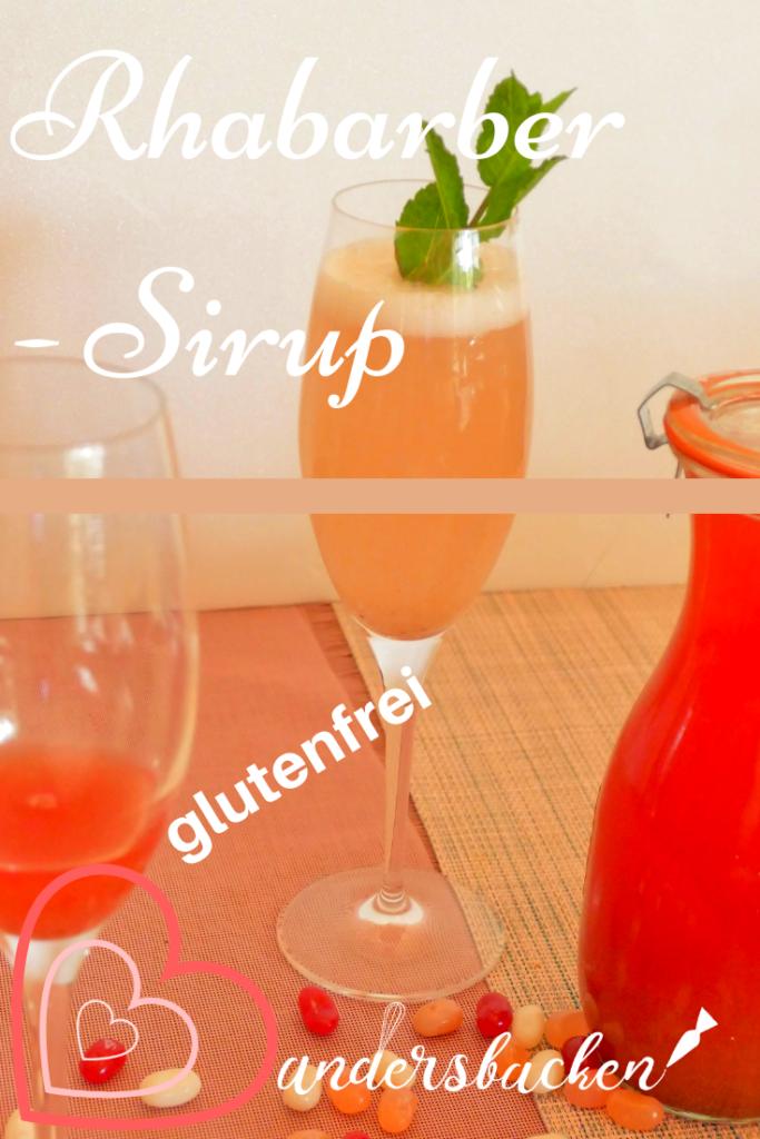Sirup Rezept mit Rhabarber