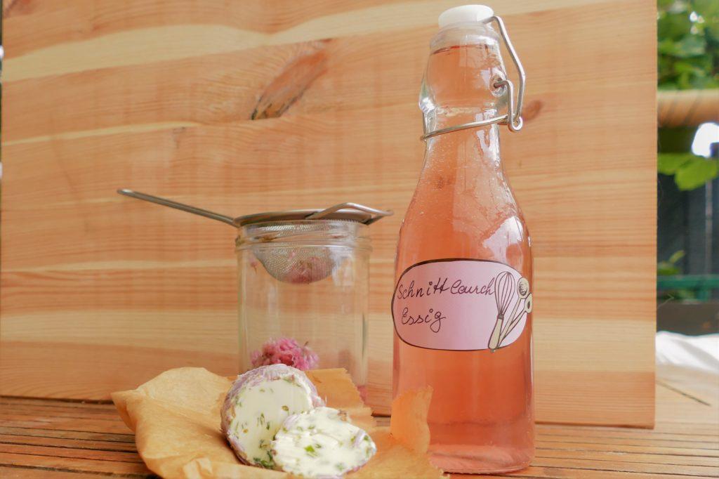 Schnittlauchblüten Essig Rezept