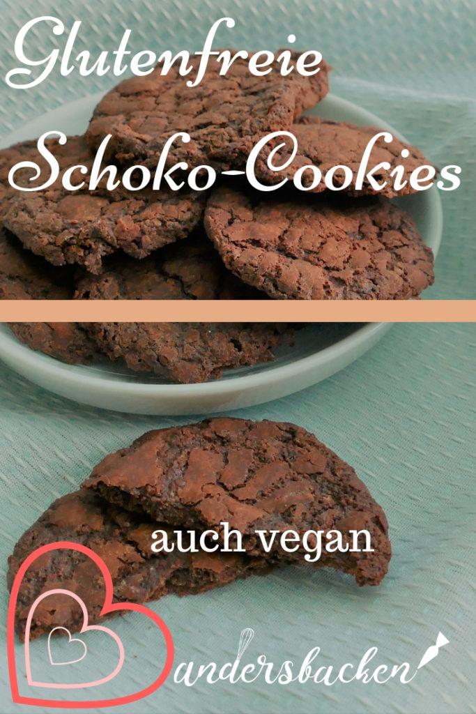 Schokoladencookies vegan und glutenfrei