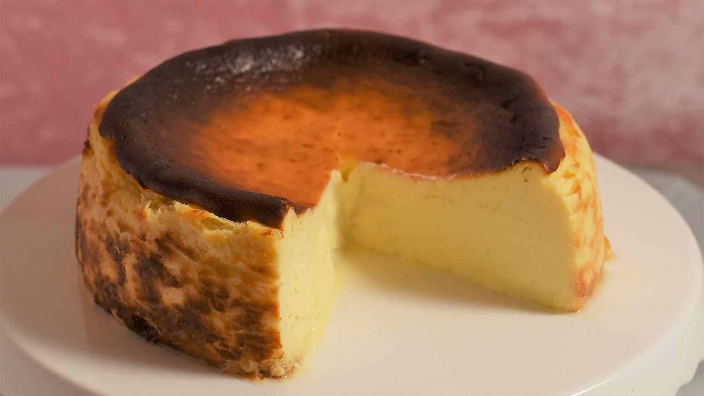 Backrezept San Sebastian Cheesecake. Glutenfrei