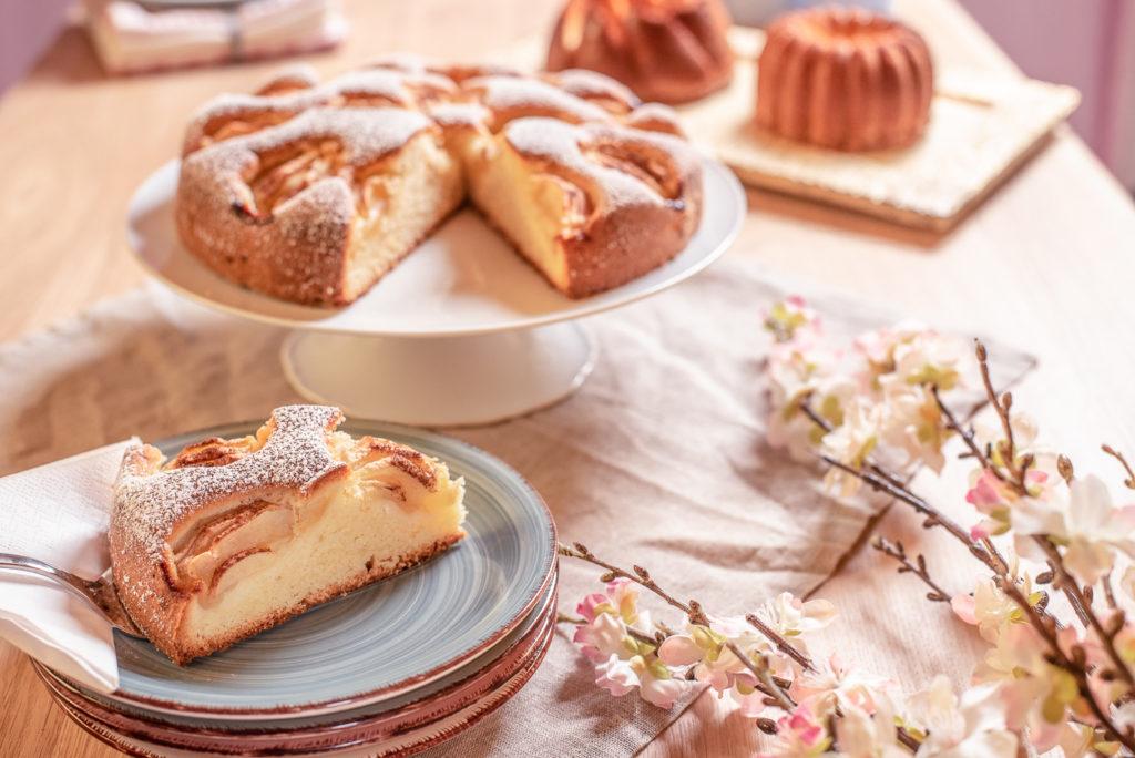 einfacher glutenfreier Apfelkuchen