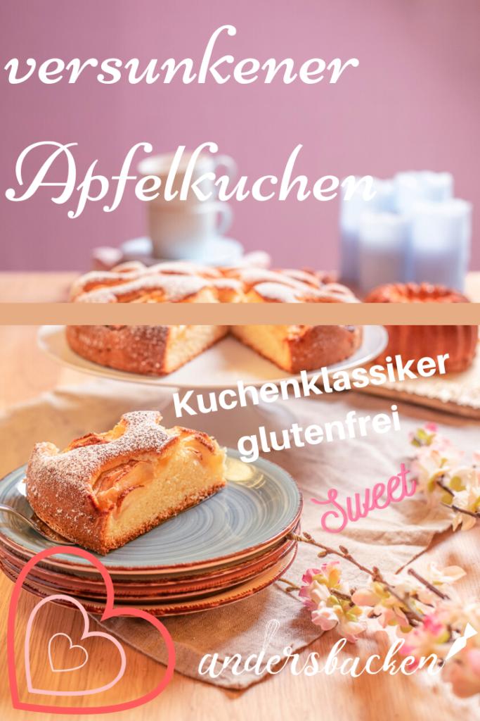 versunkener Apfelkuchen glutenfrei