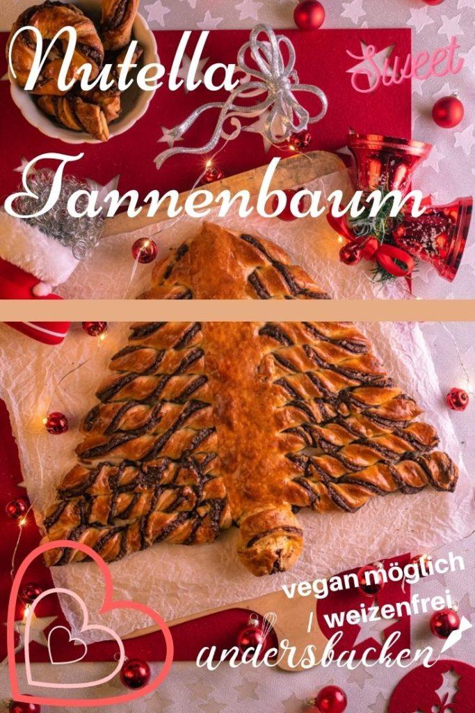 veganer Nutella Tannenbaum
