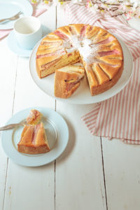 laktosefreier Rhabarberkuchen