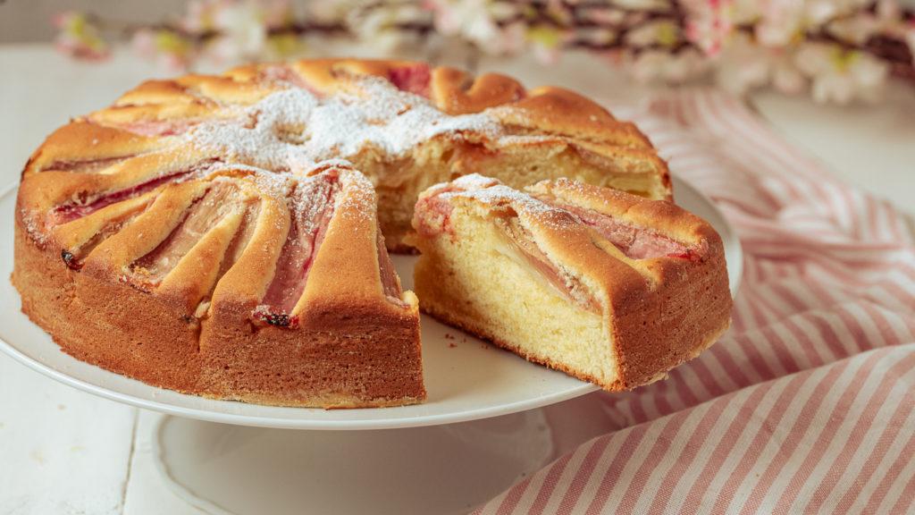 laktosefreier und glutenfreier Rhabarberkuchen
