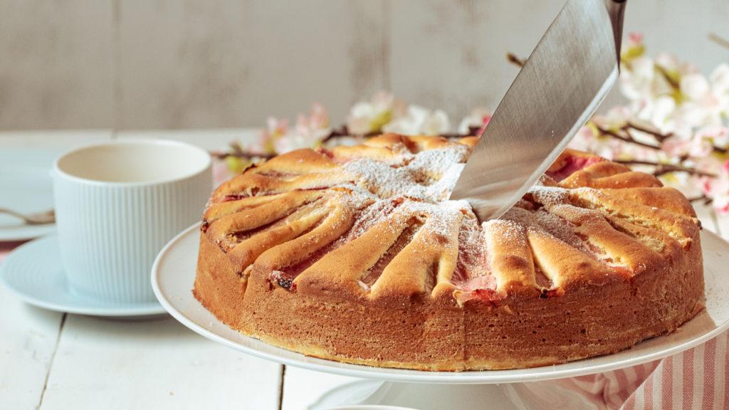 rezept für glutenfreier Rhabarberkuchen