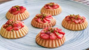 glutenfreie Erdbeertartelettes
