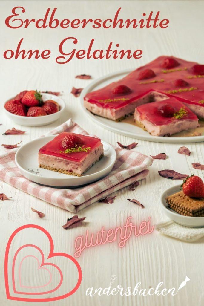 glutenfreier Erdbeerkuchen ohne Gelatine