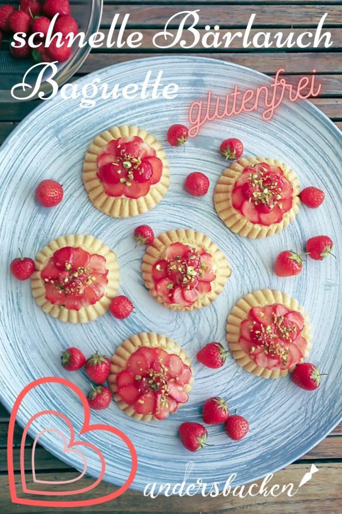 glutenfreie Erdbeer Törtchen